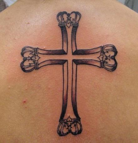Imperial cross black tattoo