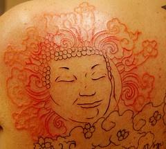 Glad buddha incomplete tattoo