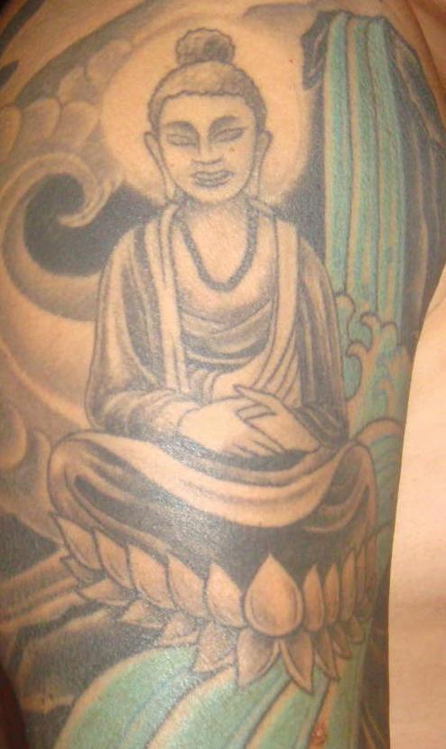 budda statua incompleta tatuaggio
