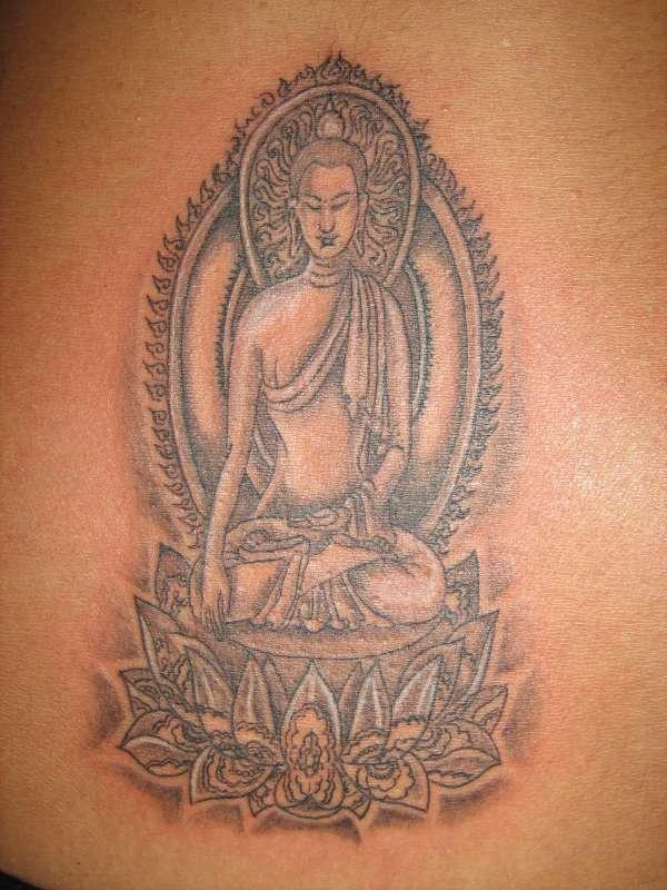 Buddhist Stone Sanctuary Tattoo Tattooimagesz