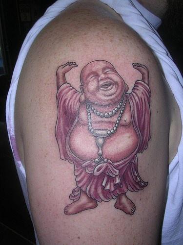 Joyful buddha tattoo