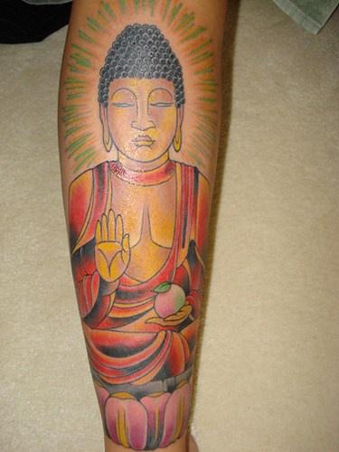 buddhista negare tatuaggio colorato