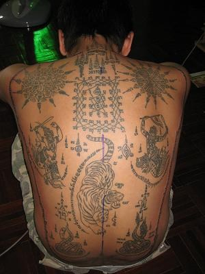 native tibetian buddhist with full back tattoo. Black Bedroom Furniture Sets. Home Design Ideas