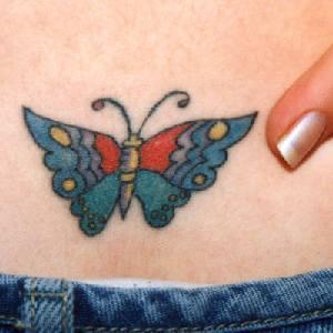 farfalla cartone animato disegno tatuaggio