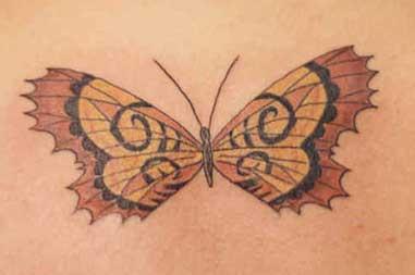 grande farfalla tatuaggio opera d&quotarte