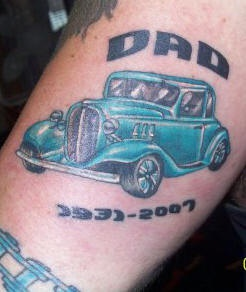 Father&quots roadster classic car tattoo