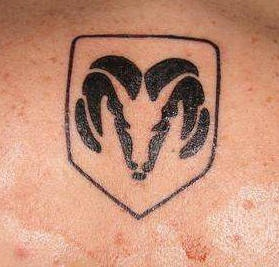 Dodge logo black ink tattoo