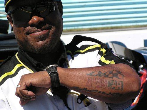 Nascar racing black ink tattoo