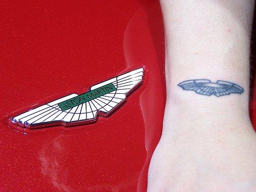 Aston martin logo tattoo