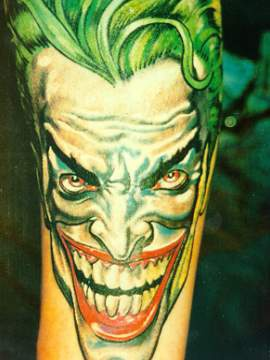 Comics series joker tattoo