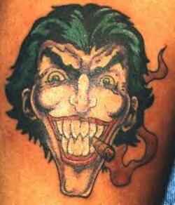 Joker with cigar fanart tattoo