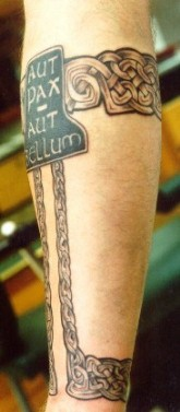 Full sleeve celtic style tattoo