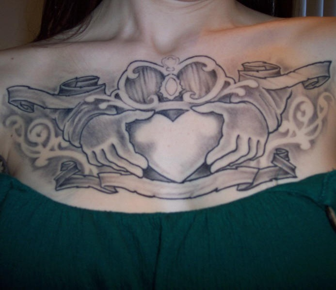 Celtic friendship symbol tattoo on chest