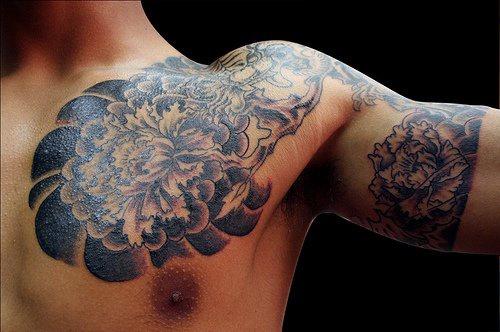 yakuza style sleeve tattoo. Black Bedroom Furniture Sets. Home Design Ideas