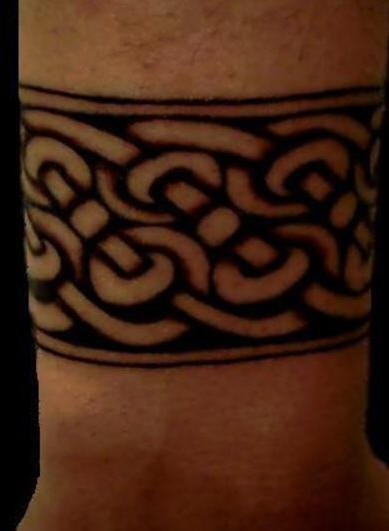 Celtic band wrist tattoo