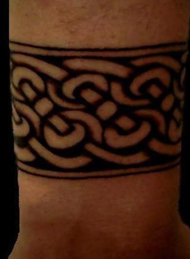 Celtic band wrist tattoo - Tattooimages.biz