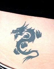 Chinese dragon symbol tattoo