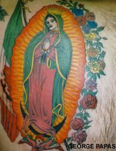 Saint virgin de guadalupe tattoo