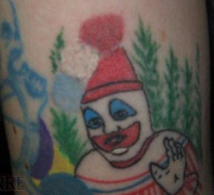 pagliaccio grasso confuso tatuaggio
