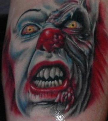 pagliaccio da esso stephen re di film tatuaggio