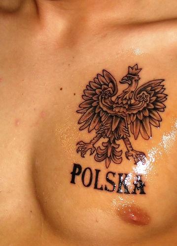 Poland coat of arms tattoo