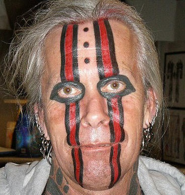 Crazy face tattoo
