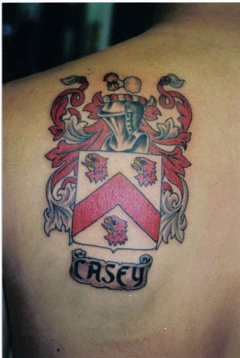 stemma di famiglia casey tatuaggio