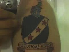georgian araldico scudo tatuaggio