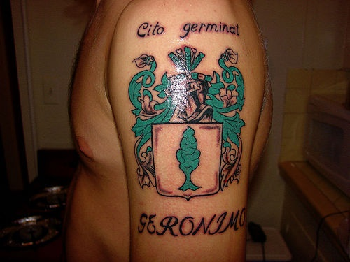 Irish city emblem tattoo