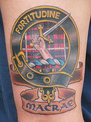 Macrae city symbol in color tattoo