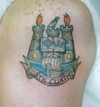 Ath cliath crest tattoo in colour