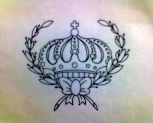 Crown of laurel black ink tattoo