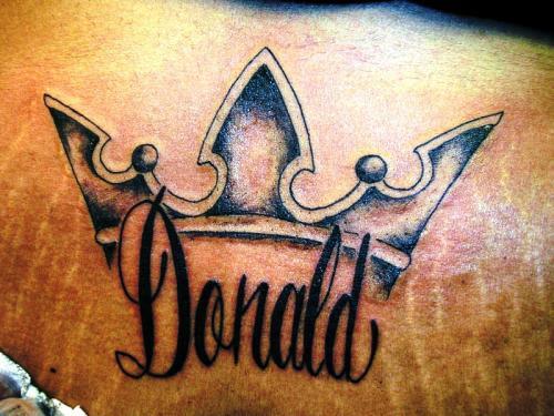 Donald the king tattoo