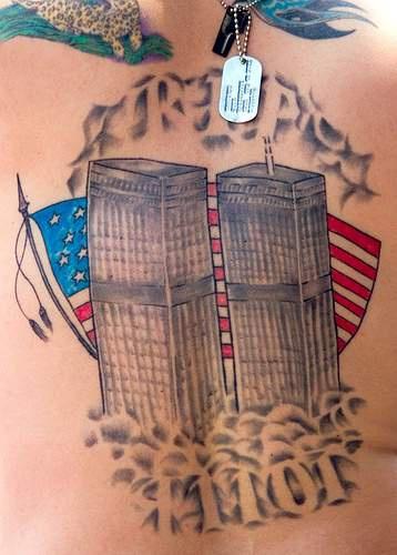 Rip 911 skyscrapers memorial tattoo