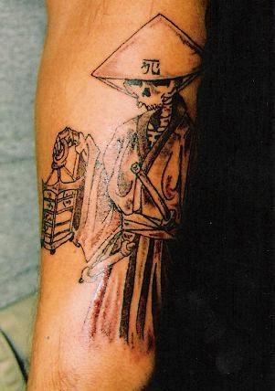 Chinese style grim reaper original tattoo