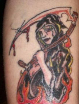 She-death coloured tattoo