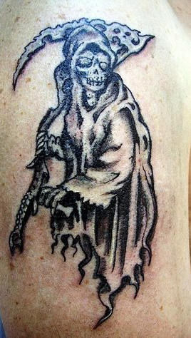 Old grim reaper tattoo