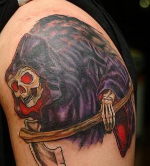 colorato triste mititore opera d&quotarte tatuaggio