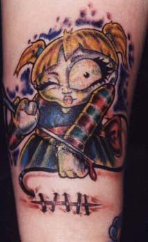 lei - demone cartone animato tatuaggio