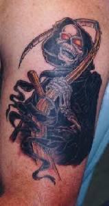 3d grim reaper tattoo