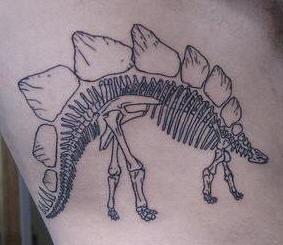 Stegosaurus skeleton tattoo