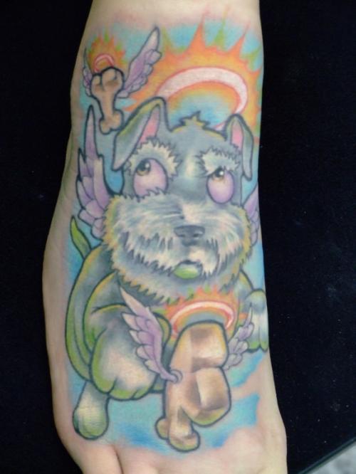 Dog in dog heaven tattoo