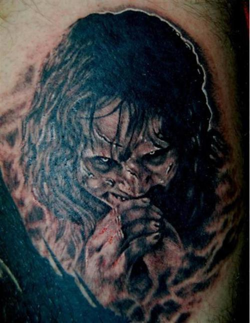 demonio film esorcista tatuaggio