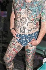 Extreme full body coloured tattoo