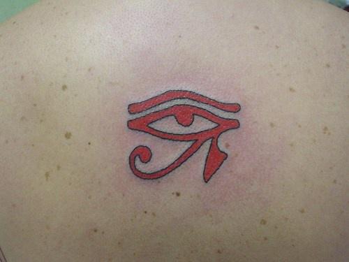 Eye of ra red ink tattoo