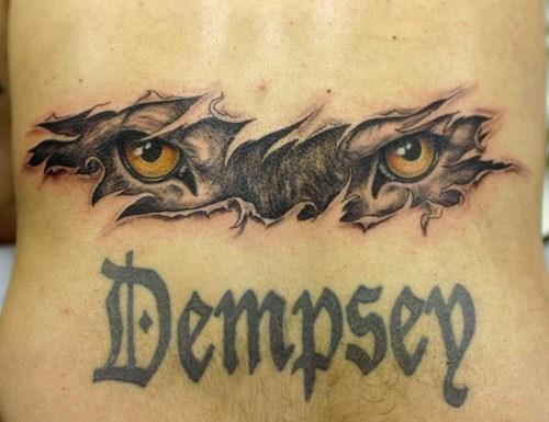 Wolf eyes skin rip tattoo for Wolf eyes tattoo designs