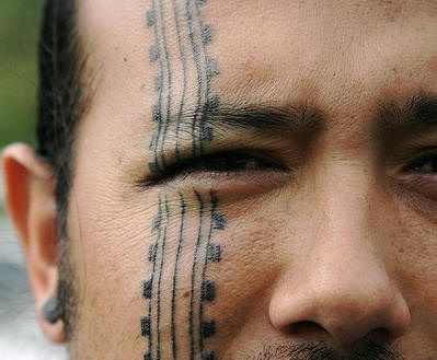 Band face tattoo