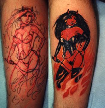 Woman is the devil tattoo