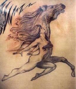 Running like horses artwork tattoo
