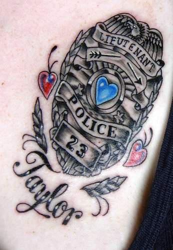 Policeman taylor memorial tattoo